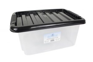 black plastic storage